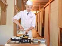 *【朝食一例】客前料理の名物「だし巻き玉子」