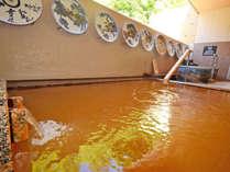 *【大浴場B-露天風呂・金泉】褐色色のにごり湯を満喫