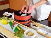 *【夕食一例】客前料理「握り寿司」