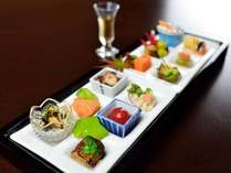 *【夕食一例】食前酒と前菜:有馬十二坊
