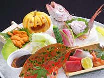 *【秋のお造り一例】のどぐろ・雲丹・鮪など旬の新鮮な魚介をご提供します。