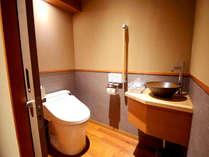 *【客室トイレ-全室共通】手洗いがある洗浄機付きトイレです