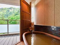 *【金泉露天風呂付客室Cテラス】季節ごとに変わる山の風景をお楽しみください