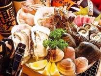 ★海鮮焼各種・鉄板焼・なんと舟盛が付いて2食・完全個室でゆっくりお召し上がり頂けます