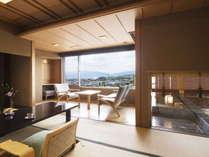 【露天風呂付客室】浅間の名湯を独り占めしていただける露天風呂付きのお部屋です