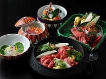 【季節の会席】赤ワインを使用した濃厚でキレのある味わいの「ワインすき鍋」