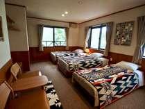 トリプルルーム (洗面/トイレ・ウォシュレット付)、床暖房完備