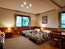 トリプルルーム (洗面/トイレ・ウォシュレット/専用バスルーム付)、床暖房完備