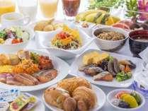 ホテル1階朝食会場「Terrace Blue Okinawa」お好きなメニューをお好きなだけお召し上がりください