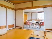 自然光たっぷりの和洋室。大切なお時間を過ごすのに最適なお部屋です。
