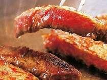 上州牛のステーキをご用意。是非ご賞味あれ。