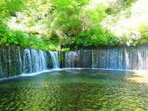 爽やかな自然あふれる軽井沢、白糸の滝。