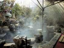 [写真]庭園露天風呂は、貸切も可能!