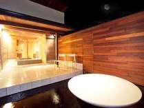 貸切風呂から眺める「月」はまさに絶景。