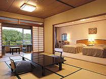 特別室和洋室☆ツイン+12.5畳、最上階5階のお部屋です♪