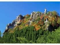 絶景おがみ岩の紅葉(11月)