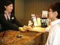 大事なお客様◎接客も地域ナンバーワンを目指して…★スタッフのイキイキ接客も自慢のホテルです。