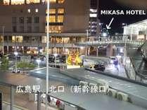広島駅北口中央からの景色