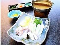【別注特別料理「温泉とらふぐ鍋」付】1泊2食バイキングプラン(アルコール90分飲み放題付♪)