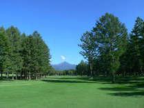 勇壮な八ヶ岳を背景に爽やかな鹿島南蓼科ゴルフコース