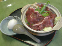 【猪鍋を食べよう】東学坊オリジナルのお味噌で仕立てた野菜たっぷり猪鍋◆1泊2食付
