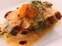 地鮑のグラタン 雲丹風味 ~ご夕食のお料理の一例です~