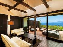 【客室】雲引き(くもひき)☆富士山と海の絶景を望む露天風呂付スイート
