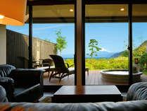【客室】月待つ(つきまつ)☆富士山と海の絶景を望む露天風呂付スイート