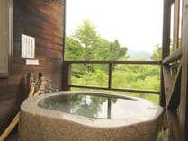 露天風呂一例 露天付きスイート(冬期期間は使用できません)