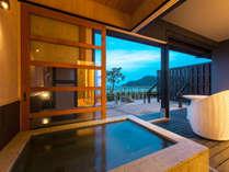 天然・夕日ヶ浦温泉「美人の湯」を客室露天風呂でお愉しみください【1F客室】
