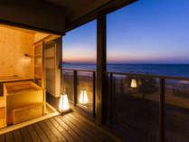 2階客室露天風呂からの景色です。