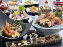 底引き網漁で獲れる希少海老と旬の魚介をお愉しみください。