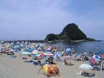 日本の水浴場五十五選の地、由良海岸