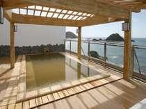 雄大な日本海の夕陽を眺めながらご入浴。※天候により、クローズの場合有