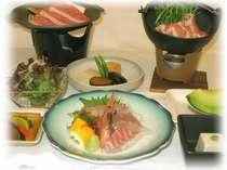新鮮な山の幸、海の幸を心ゆくまで堪能できる自慢の料理(料理は季節によって異なります)