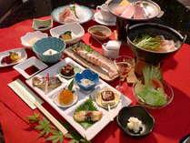 豊後山海の幸が満載の贅沢料理をご堪能ください。