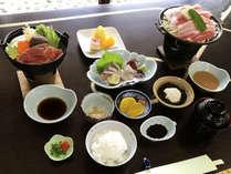 美味豊後御膳☆もちもち豚と野菜陶板焼き、旬の鍋、お刺身などをご堪能。