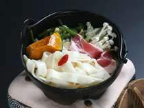 武田信玄も陣中食としていたと言われる甲州名物ほうとう鍋
