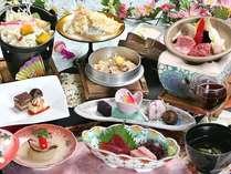 甲州ワインビーフステーキ(30g)・甲州名物ほうとう鍋を中心とした郷土色豊かなお料理