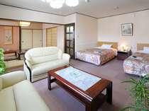 【DXツイン】和室部分もあるので、大人5人まで同室可能!グループ旅行やご家族での観光にもOK♪