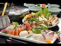 【海鮮しゃぶしゃぶ】新鮮なお刺身を贅沢に楽しめる~海鮮しゃぶしゃぶプラン