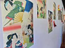 「ゲストハウス 浮世絵」の名の通り、館内には浮世絵を展示しております。