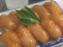 *[お料理一例]郷土料理★旬の魚をヅケにしてカラシで食す「島寿司」