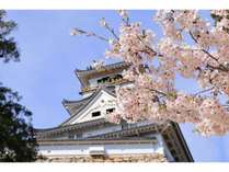 春の高知城