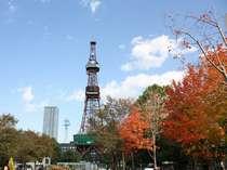 季節の移り変わりが美しい、大通公園とテレビ塔