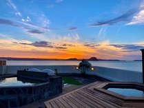 ■貸切できる展望露天風呂■7月からスタート!最高の解放感!唐津湾を一望できる展望露天風呂です!