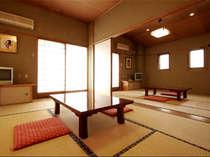 *【和室8畳二間(一例)】広々としたお部屋でごゆるりとお寛ぎください。