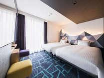 【客室】スーペリアツイン・部屋広さ…21㎡・ベッド幅…120cm