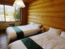 ■ツインルーム 全客室から白馬の山々が望めます
