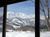 客室からの景色 全部屋から白馬の山々を望めます